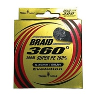 Timber Wolf Braid 360 Super PE 300m Flame Orange